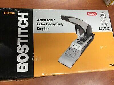 Bostitch Auto 180 Xtreme Duty Automatic Stapler 180-sheet Capacity Silverblack