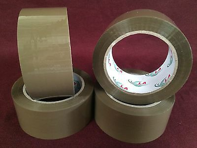 4 Rolls Browntan Packaging Tape - 2x110 Yards330feet Low Noise Packing Tape