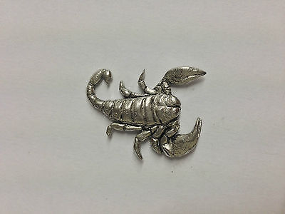 Code Q9 Scorpion Made from Solid Fine English Pewter Pin Lapel badge