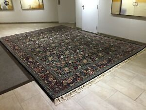 Heriz Luxury Rug 15x11 Persian Soft Wool Hand Knotted