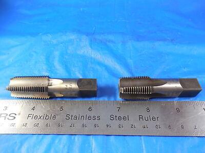 2pcs Lot Of Modified Cheboygan 12 14 Nptf M-11 4 Flute Taper Pipe Taps .579