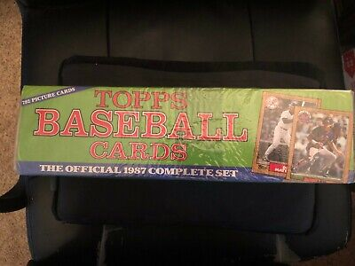 Topps 1987 Complete Baseball Set- 792 cards- Factory/Sealed- great star cards 1987 Topps Factory Set