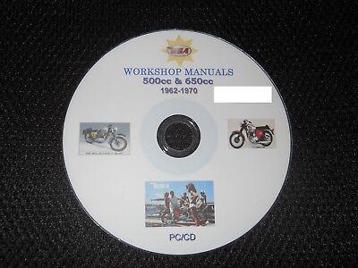 BSA 500 650 Manual Service Spares Information Data workshop manual books Repair