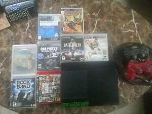 ps3 250gb 2 controllers 8 games