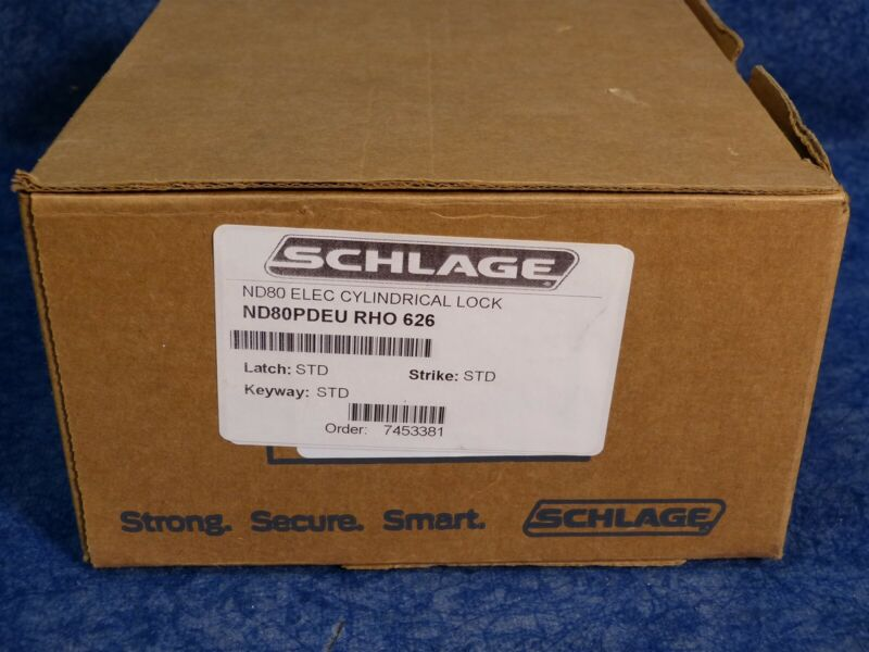 Schlage ND80PDEU RHO 626 ELECTRIFIED CYLINDRICAL LOCK