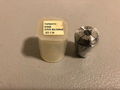 New In Package Tapmatic Square Drive Collet 21030 Er25 .323 X 24
