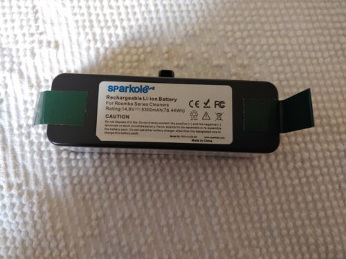 Sparkole Rechargeable Li-ion Battery for Roomba Series Vacuum Open Box
