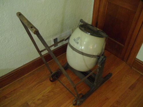 Antique Butter Churn Complete w/ Glass Top 1910 Rocker 8 Gal Primitive Farm RARE