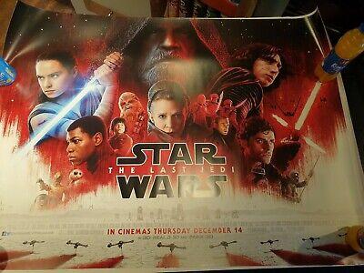 STAR WARS THE LAST JEDI 2017(Final Quad) ORIGINAL CINEMA QUAD POSTER Mark Hamill