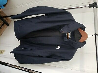 Helly Hansen Men's Medium Helly Tech Blue Waterproof Hooded Full Zip Jacket