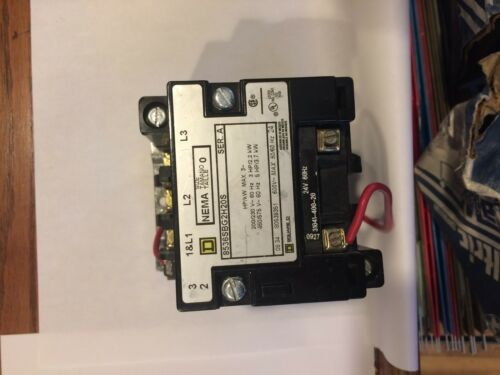 Square D 8536SBG20S Magnetic Motor Starter 24V 60HZ