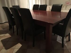 Pfiztner furniture jarrah table 2400 by 1200(includes free chairs Adelaide CBD Adelaide City Preview