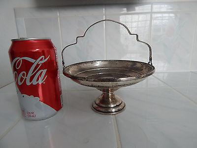 Sterling silver ELGIN  candy dish bon bon  compote handle pedestal basket  Sterling Bon Bon Dish