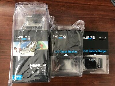 GoPro Hero 4 Black with pro LCD Touch Backpac and Dual Battery Charger NEW  comprar usado  Enviando para Brazil