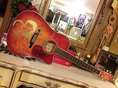 """Art Garfunkel""signed guitar! (acoustic electric) Alvarez!-rare! W/signed album!"