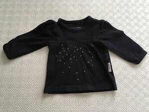 Noppies Navy Shirt with Stars Size 50 (0-1 month)