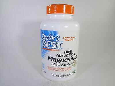 Doctor's Best High Absorption Magnesium 100% Chelated w Albion 240