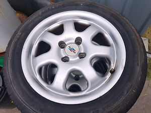 4x100 15x6 Auscar alloy rims and tyres Tweed Heads Tweed Heads Area Preview