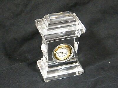 "A Rosenthal Versace  ""Crystal"" Clock by World Renown Company, Fantastic."