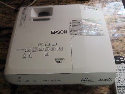 Epson PowerLite 965H Portable XGA 3LCD Projector - H682A-pre-OWNED