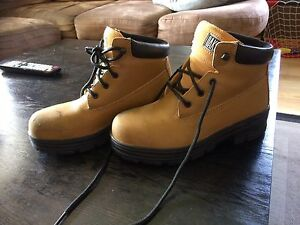 Steel Toed Work Boots (size 8)