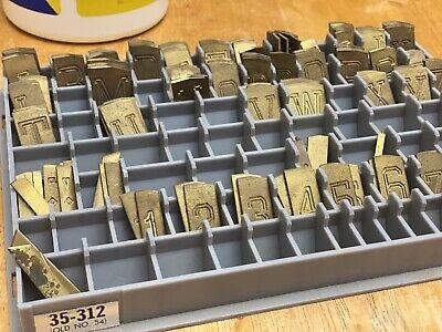 New Hermes Brass Engraving Master Font Set 35-312 Old No 54