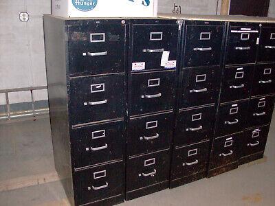 Black Hon 4 Draw Metal File Cabinet
