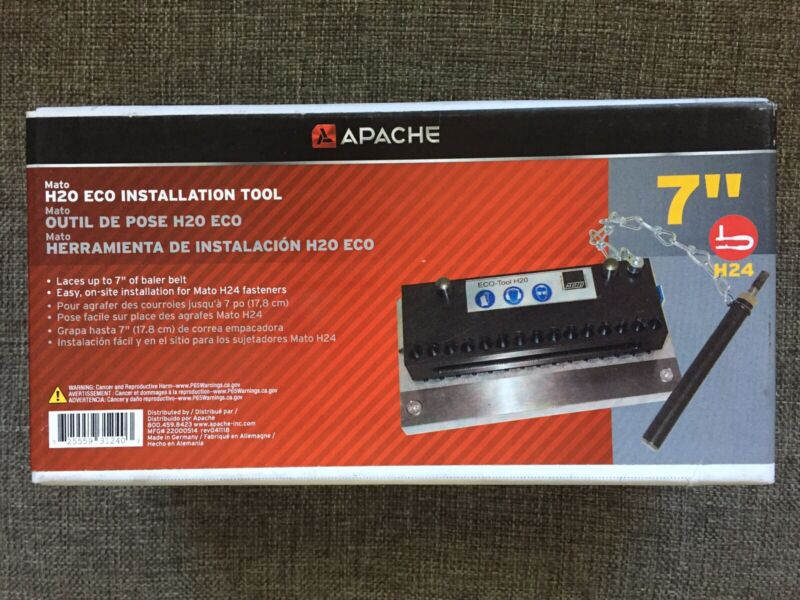 """NEW!!! - Apache MATO 7"""" Eco Installation Tool H20 H24 Baler Belt Lacer 180/BS7"""""""