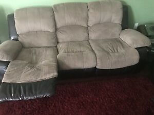 RECLINER SOFA FOR SALE (TWO PIECES)