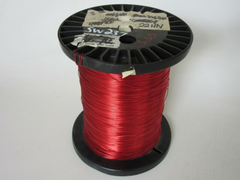 22 AWG   5.55 lbs.  Heavy  Enamel Coated Copper Magnet Wire
