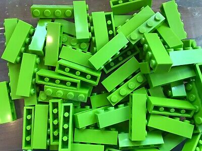 LEGO- BRAND NEW- #3004-1 x 4 -LIME GREEN-40 BRICKS