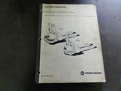 Bt Prime-mover Rmx Hmx Electric Pallet Truck Forklift Repair Manual