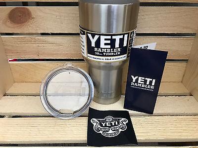 30oz YETI Rambler Tumbler Stainless Steel Mug W/Lid