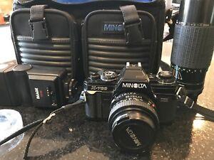 Camera Minolta 35mm avec 2 lentilles