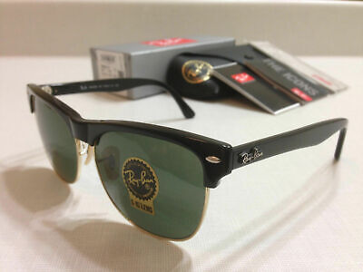 Ray-Ban RB4175 877 CLUBMASTER OVERSIZED BLACK/Classic Green Lens 57 (Ray Ban Clubmaster Men)