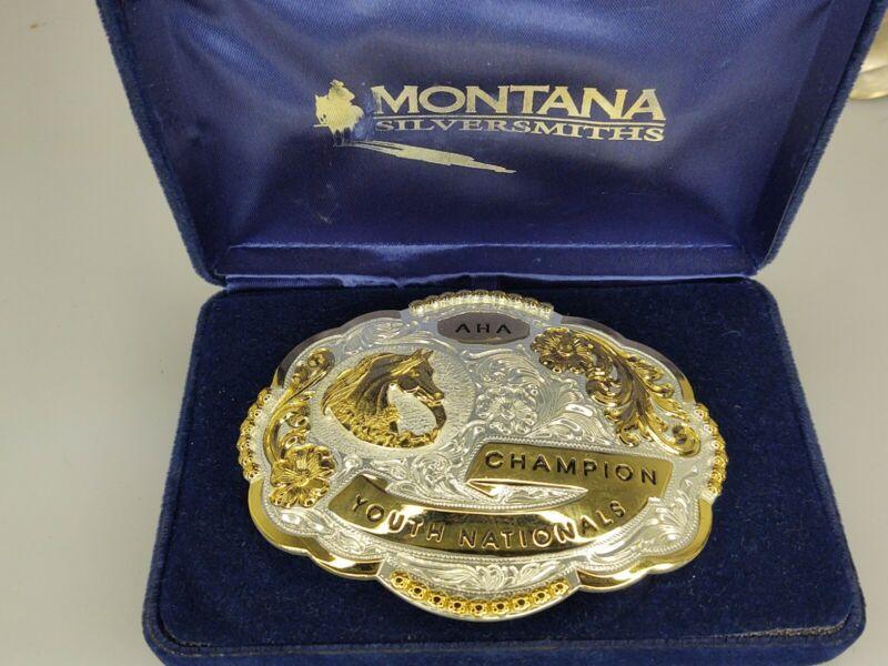 Montana Silversmiths Aha Champion Youth Nationals Belt Buckle