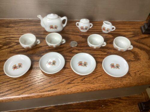 Vintage Mini Tea set with Teddy Bears (11 pc set) Unbranded