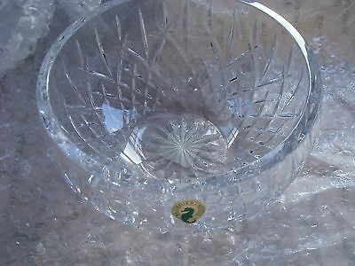"""Brand New Authentic Waterford Araglin Crystal Bowl 7"""" Box Harrods Wedding Gift"""