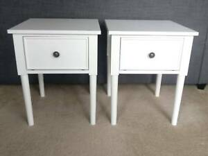 White bedside tables in great condition
