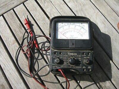 Simpson Model 260 Series Volt Ohm Test Meter Multimeter For Parts
