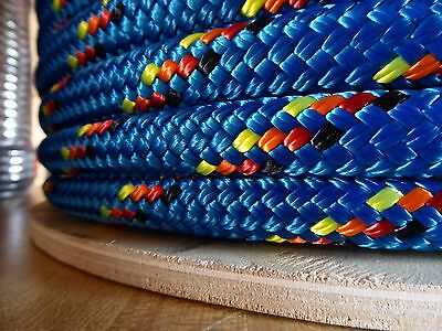 """1"""" x 100 ft. Double Braid~Yacht Braid Polyester Rope Spool.Made in the USA."""
