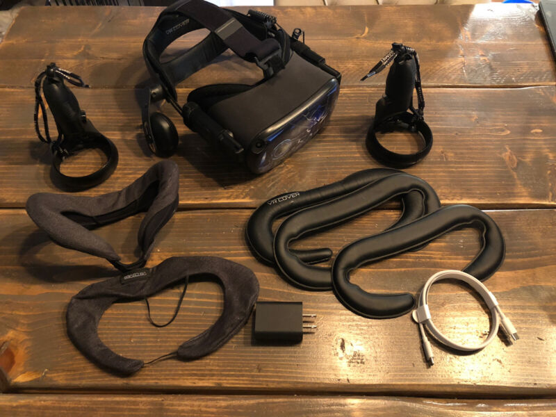 Oculus Quest 64GB VR Headset With Deluxe Audio Strap - Tons Of Extras