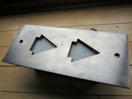 Art Deco Building Up & Down Elevator Directional Arrows Panel Mid Century Steel?