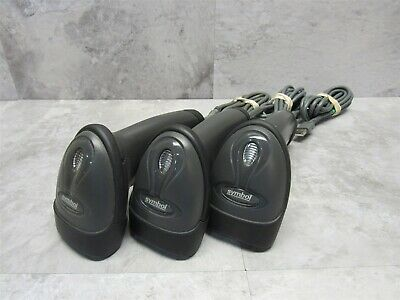3 Lot - Motorola Symbol Ls2208-sr20007r Barcode Scanner Reader W Usb Cable