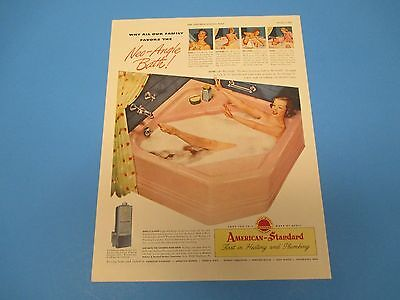 1948 Neo-Angle Bath! American-Standard First in Heating and Plumbing, PA009 American Standard Neo Angle