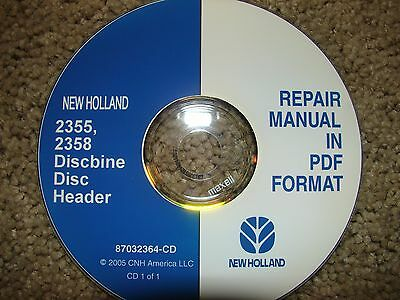 New Holland 2355 2358 Discbine Disc Header Manual On Disc 2005