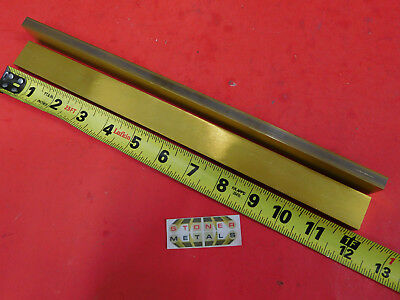 2 Pieces 38 X 1 C360 Brass Flat Bar 12 Long Solid Mill Stock H02 .375x 1.0