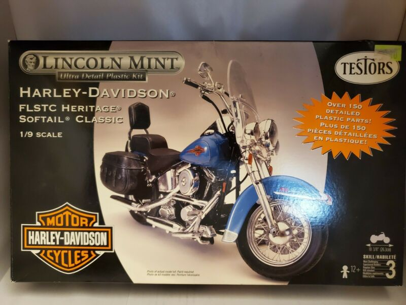 Testors Lincoln Mint Harley Davidson Motorcycle  HERITAGE SOFTAIL Sealed bag kit