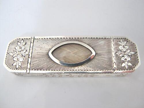 Pristine George III bright-cut toothpick box London c1790