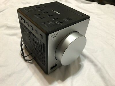 "Sony ICF-C1PJ AM/FM Dual Alarm Clock Radio Sound Time ""NO PROJECTOR WORKS ""NOBOX"